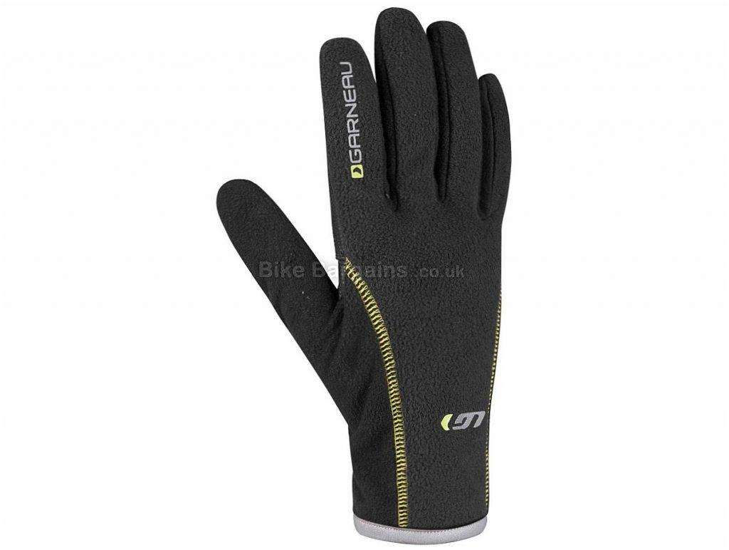Louis Garneau Gel Ex Pro Full Finger Gloves S, Black, Full Finger, Fleece, Gel