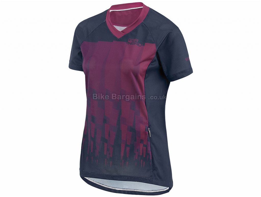 Louis Garneau Ladies Sweep Short Sleeve Jersey M, Purple, Blue