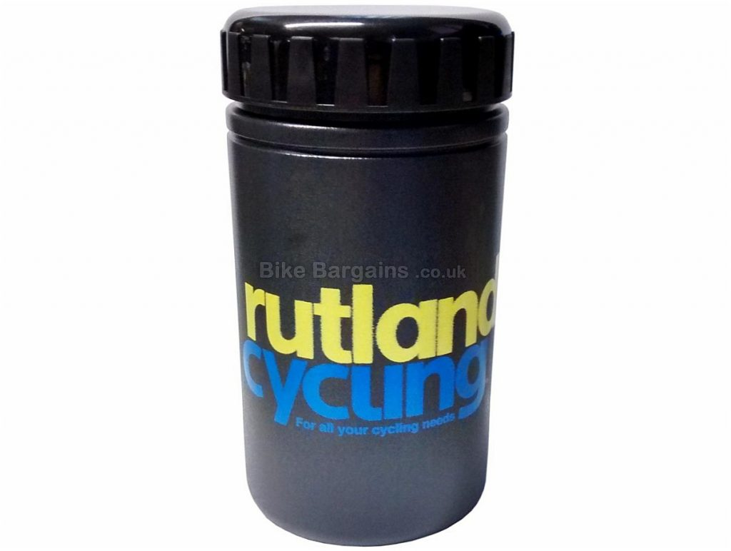 Rutland Cycling Water Bottle Tool Can Black, S, 450ml, 14cm by 7.5cm