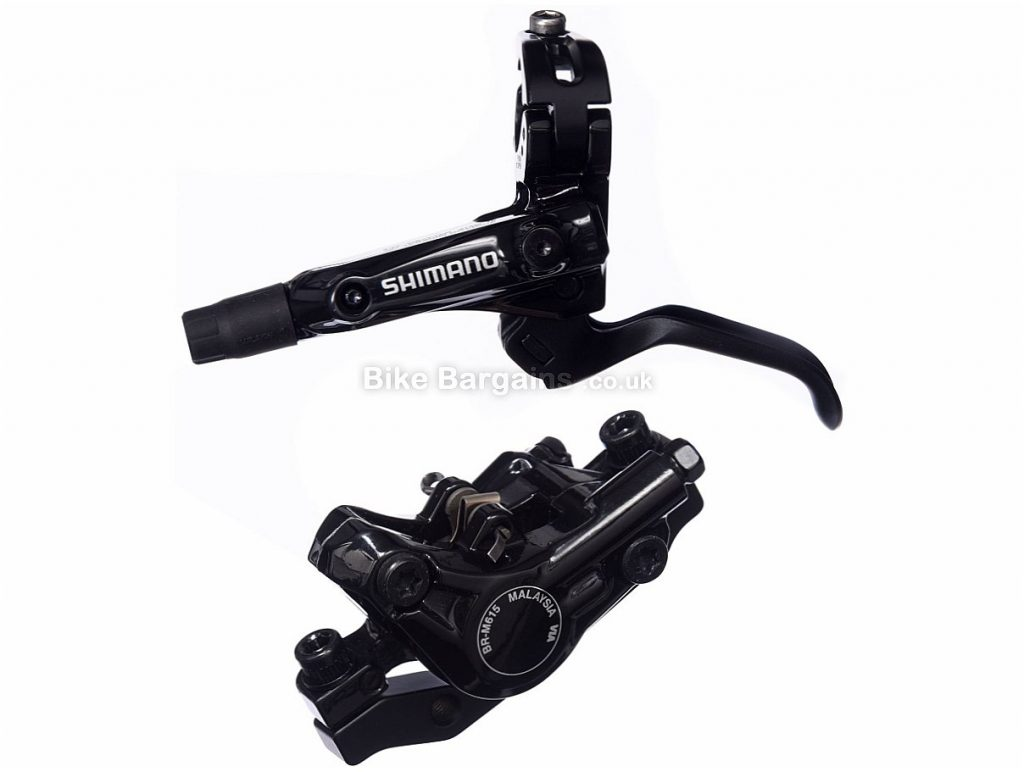 Shimano Deore M615 MTB Disc Brake Black, Front, Rear, Right, Post Mount, 1450mm