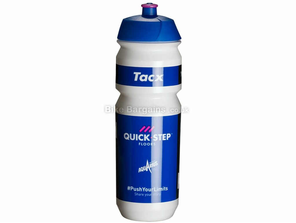 Tacx Pro Team 750ml Water Bottle 750ml, Astana, Lotto, Quickstep, Turquoise, White, Blue, Orange, Black