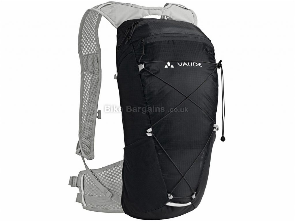 Vaude Uphill 12 Litres Lightweight Backpack Black, 12 Litres, 345g, 46cm by 22cm by 17cm