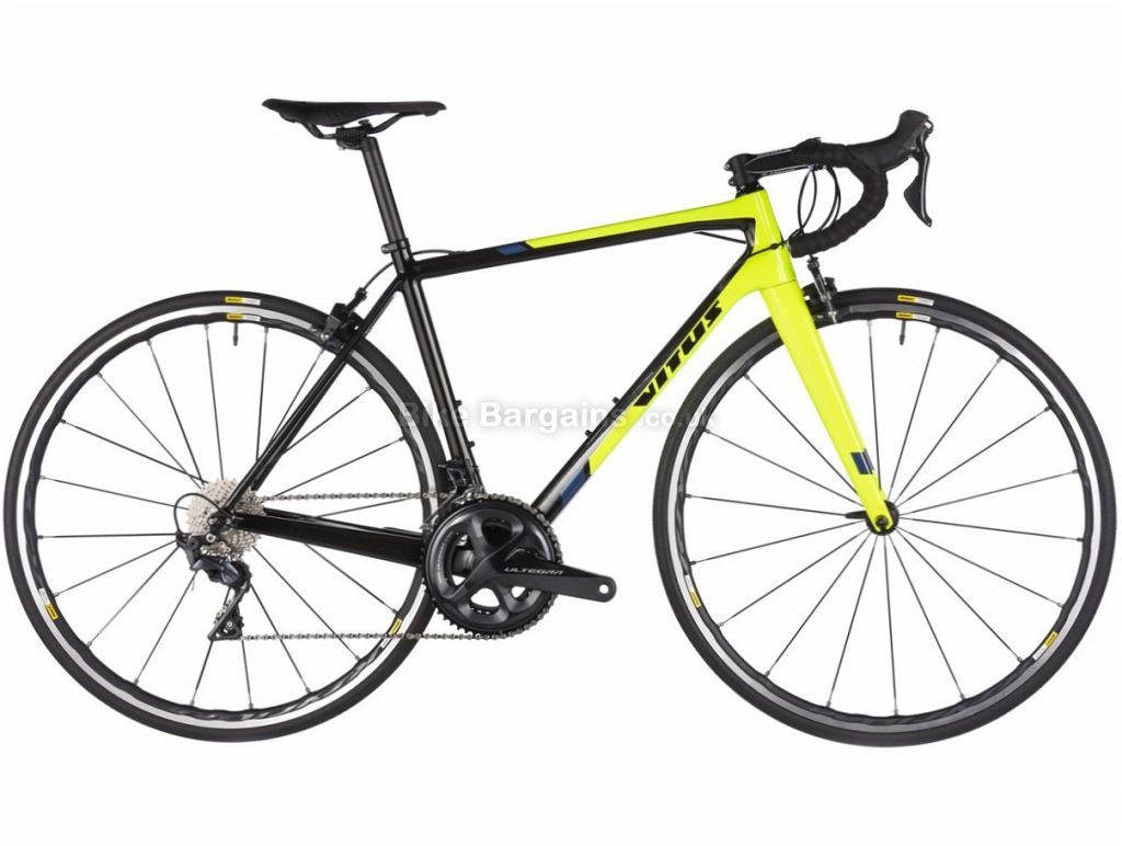 Vitus Vitesse Evo CR Ultegra Carbon Road Bike 2018 58cm, Black, Yellow, Carbon, 11 speed, Calipers, 700c, 7.7kg
