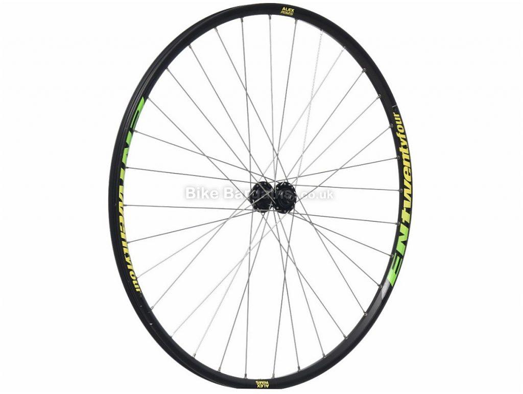 "Alex EN 24 Custom 29"" Front MTB Wheel 29"", Disc, Centre Lock, Black, Green, Yellow, 9mm, RM66 Hub"