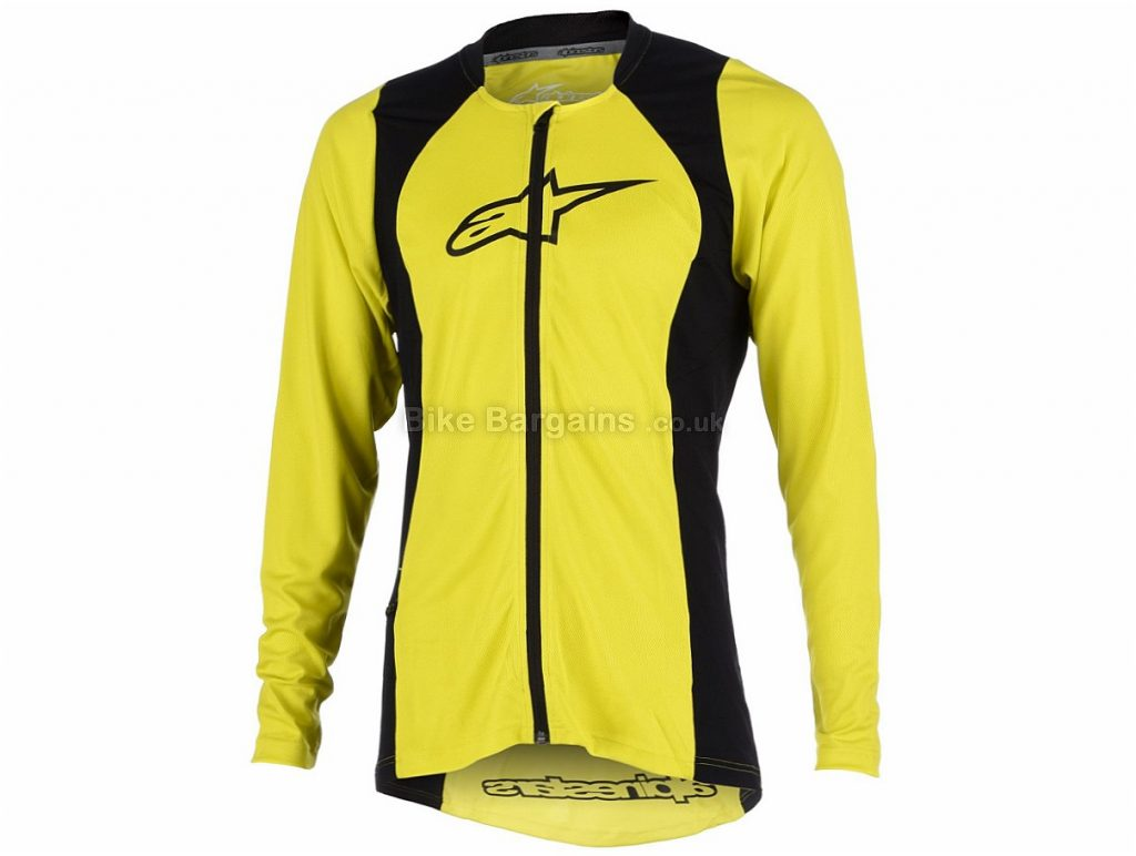 Alpinestars Drop 2 Full Zip Long Sleeve Jersey 2017 S,XXL, Blue, Green, Long Sleeve