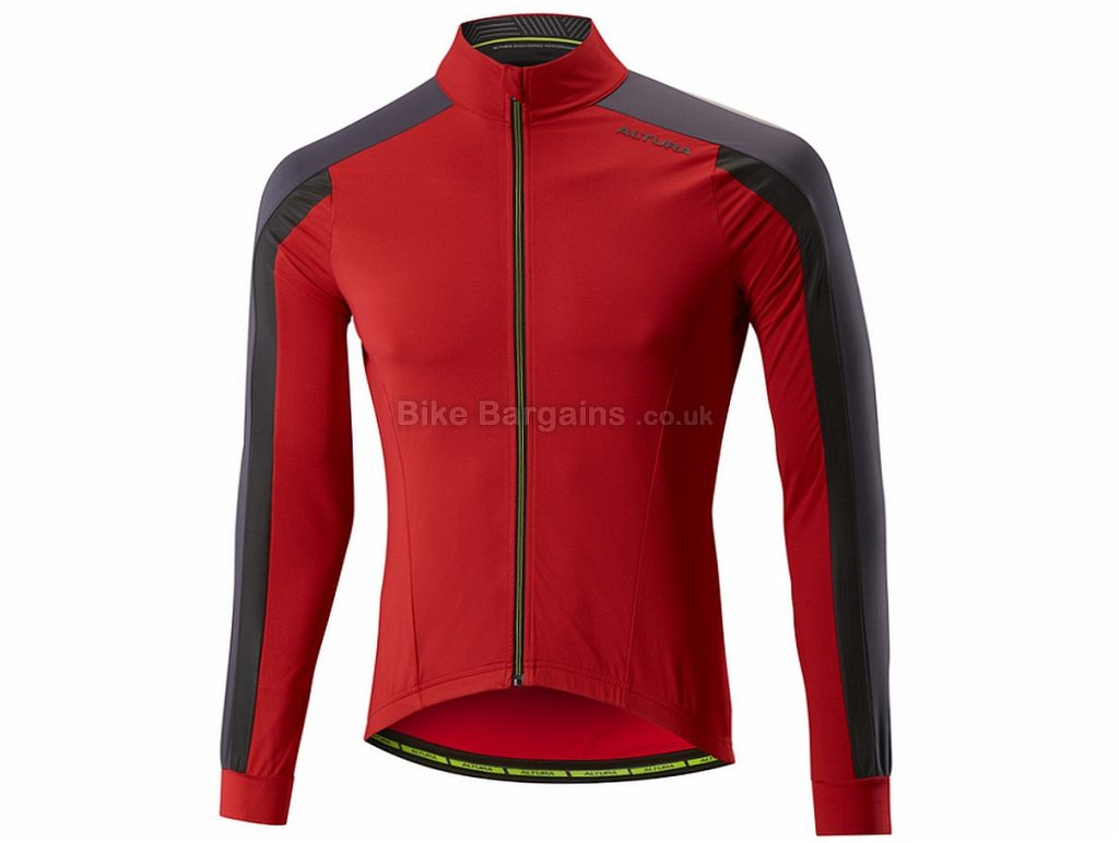 Altura Night Vision 2 Thermo Long Sleeve Jersey S, Red, Long Sleeve