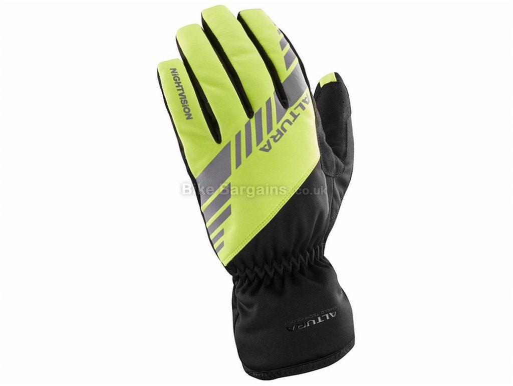 Altura Night Vision 3 Waterproof Full Finger Gloves S, Black, Yellow, Full Finger