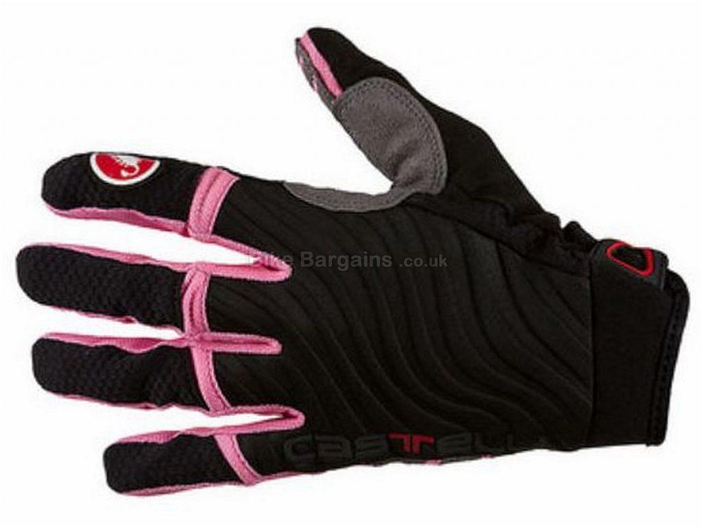 Castelli CW 6.0 Cross Full Finger Gloves 2016 S,XL,XXL, Black, Pink, Full Finger, Neoprene, Nylon, Polyester, Velcro