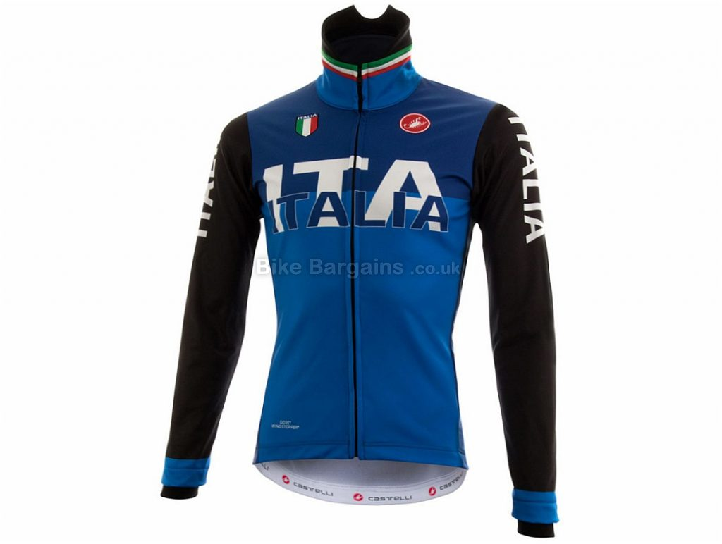 Castelli Italia Limited Edition WS Winter Jacket M, Blue, Long Sleeve