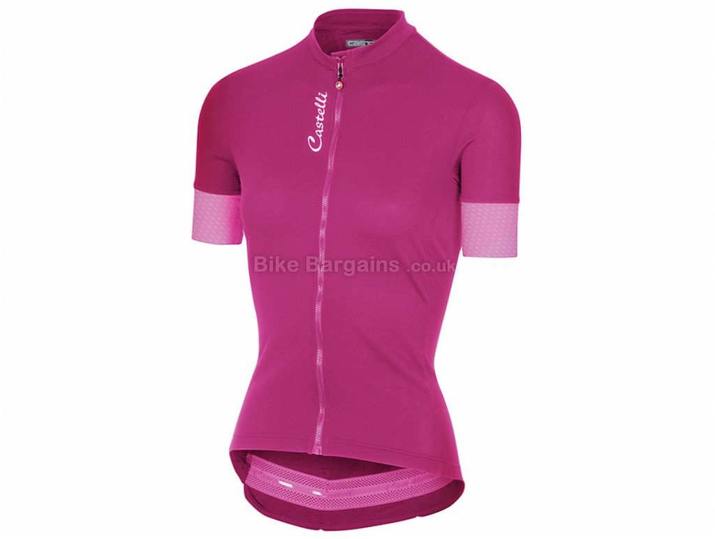 Castelli Ladies Anima 2 Short Sleeve Jersey XL, Blue, Pink, Black, Short Sleeve
