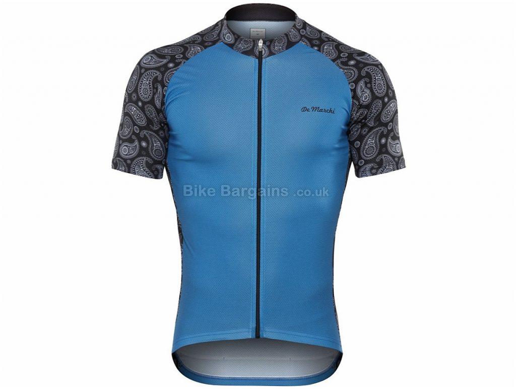 De Marchi Damasco Short Sleeve Jersey 2018 S,M,L,XL,XXL, Yellow, Blue is slightly extra, Short Sleeve