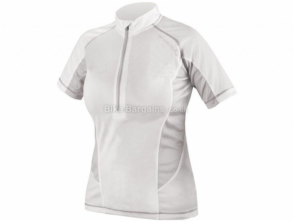 Endura Ladies Pulse Short Sleeve Jersey 2016 L,XL, White, Short Sleeve