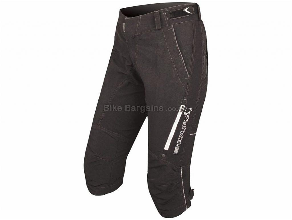 Endura Ladies SingleTrack ll 3/4 Shorts 2017 M, Black, Three Quarter Length