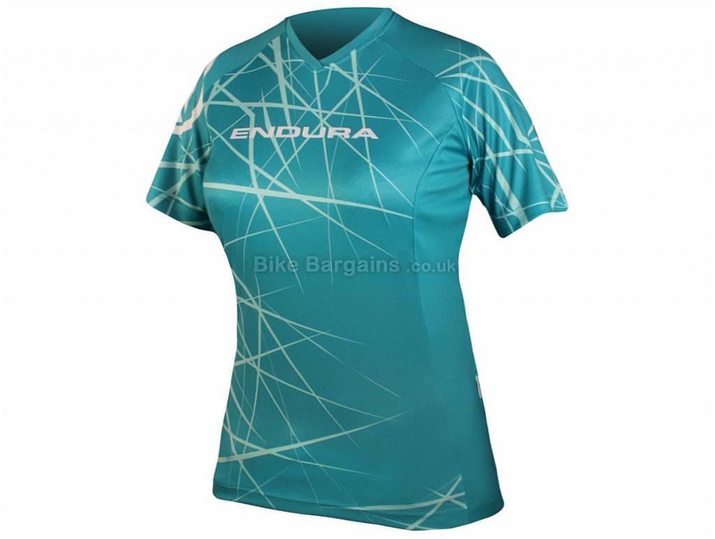 Endura Ladies Singletrack Short Sleeve T-Shirt 2015 XS,S, Red, Short Sleeve