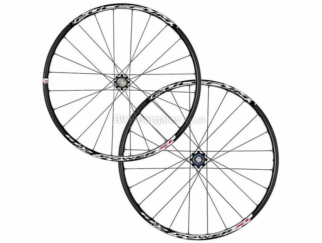 "Fulcrum Red Power XL 6 Bolt 26"" MTB Wheels 26"", Black, White, Alloy, QR - 15mm is slightly extra, 9,10 Speed, 1.73kg,"