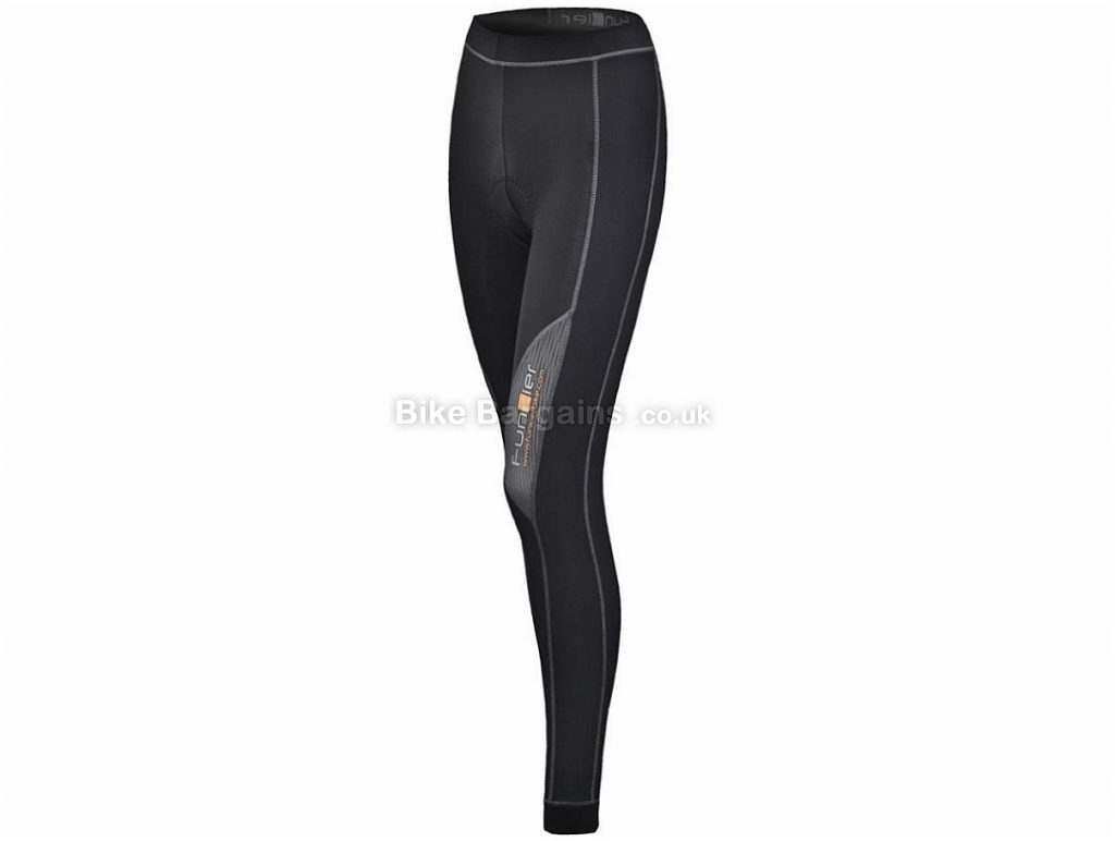 Funkier Summer Ladies 7/8 Padded Tights S, Black, Seven Eighths Length, 210g