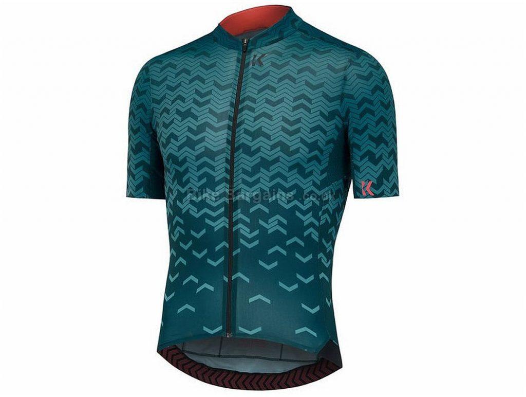 Kalf Flux Chevron Short Sleeve Jersey XS, Green, Short Sleeve