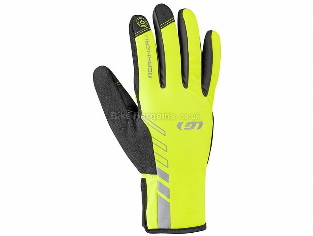 Louis Garneau Rafale 2 Winter Full Finger Gloves S,M,XL, Black, Yellow, Full Finger, Synthetic Leather, Velcro