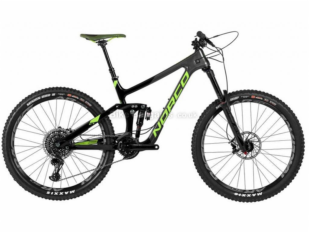 "Norco Range C7.2 27.5"" Carbon Full Suspension Mountain Bike 2017 XS, Black, Grey, Carbon, 12 Speed, 27.5"", Full Suspension, 14.29kg"