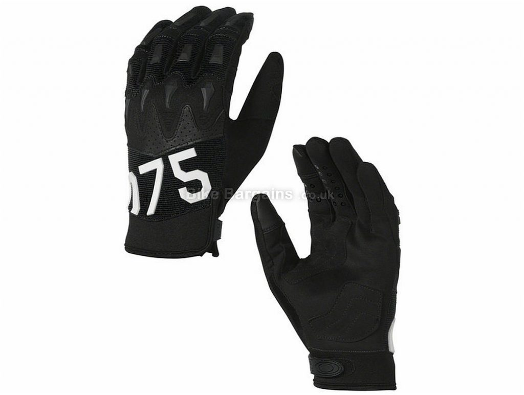 Oakley Overload 2.0 Full Finger Gloves M, Black, Yellow, Full Finger, Polyester, Rubber, Synthetic Leather