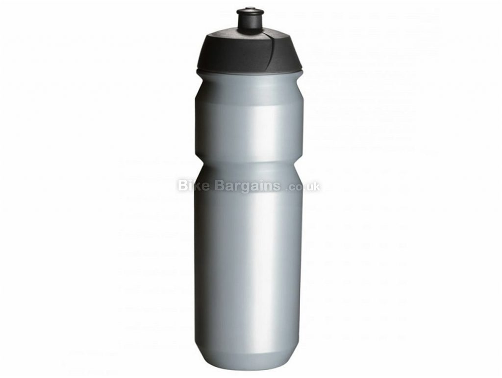 Tacx Shiva 750ml Water Bottle Silver, Red, 750ml, screw on lid