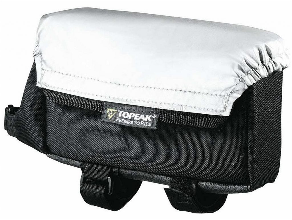 Topeak TriBag Top Tube Bag Black, 14cm by 4cm by 10.2cm, with rain cover, 59g
