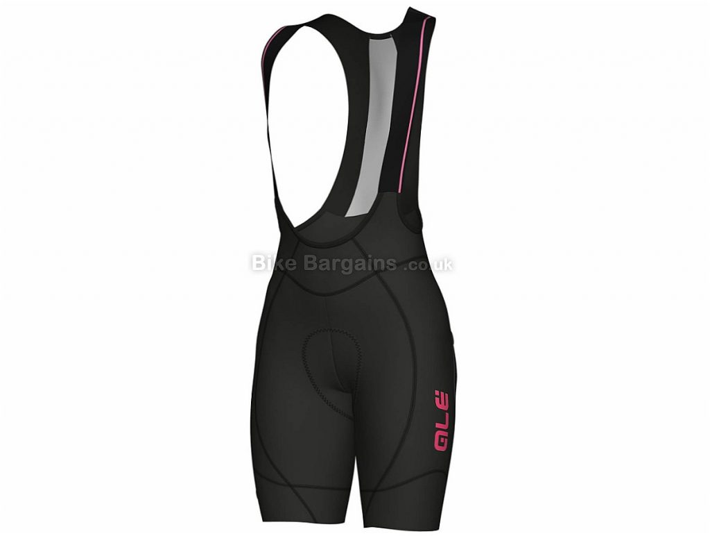 Ale Ladies PRR 2.0 Agonista Bib Shorts L,XL, Black, Pink