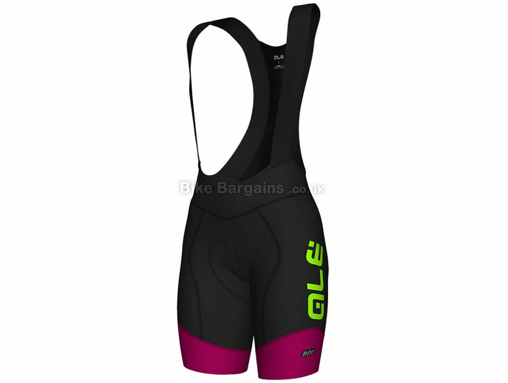 Ale Ladies R-EV1 Master Bib Shorts L, Black, Purple