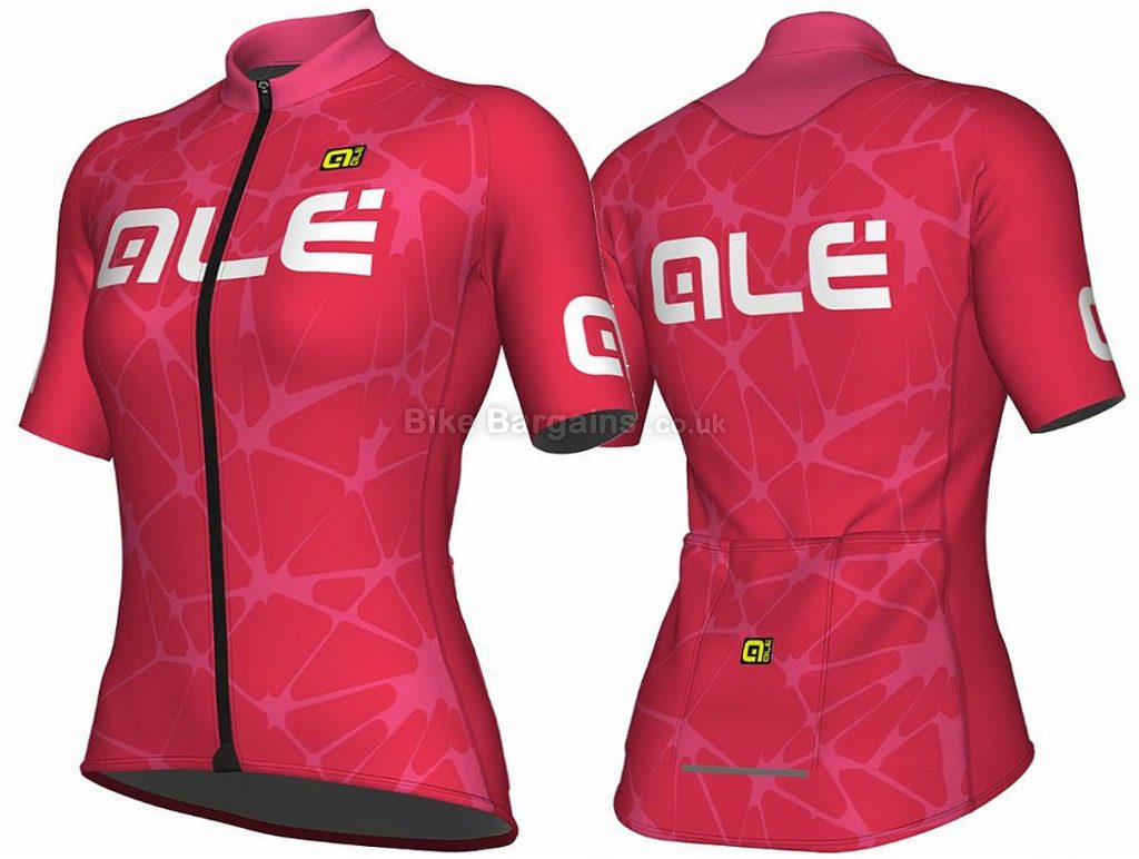 Ale Solid Cracle Ladies Short Sleeve Jersey 2018 L, Pink, Short Sleeve