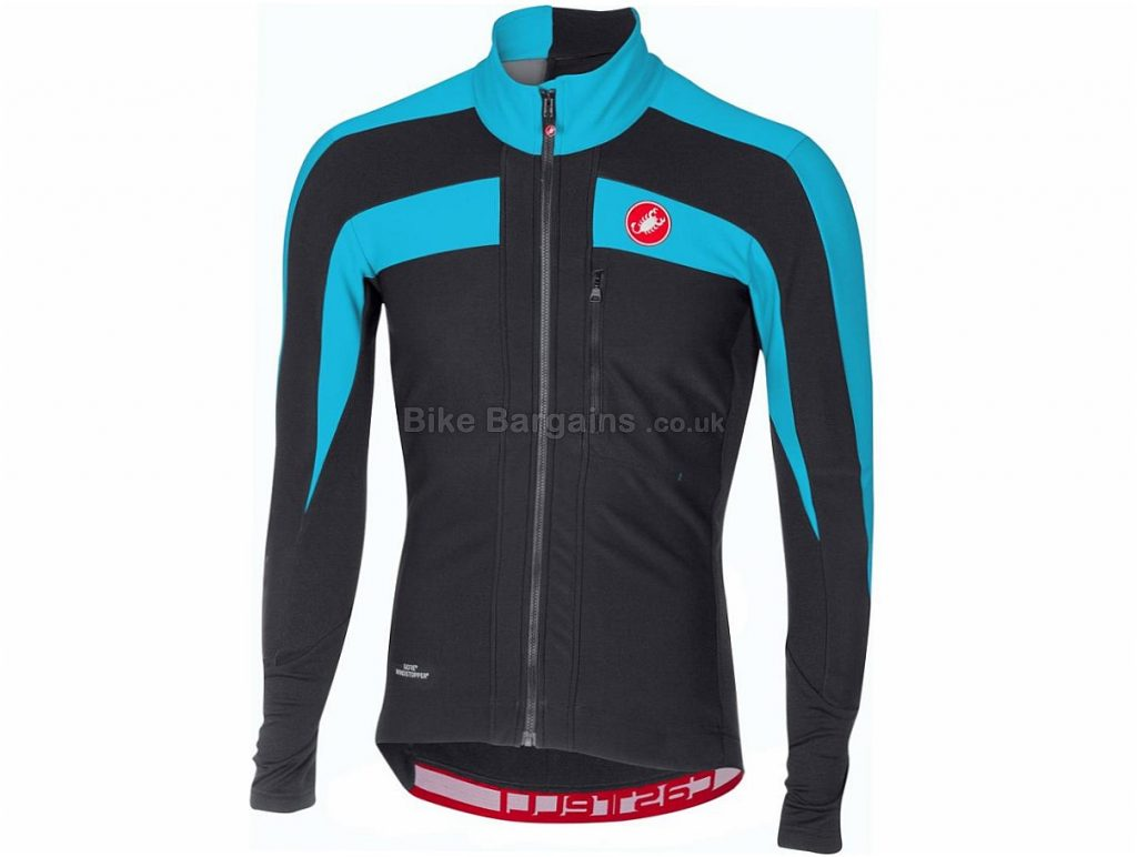 Castelli Trasparente 4 Long Sleeve Jersey 2018 S,M, Grey, Blue, Black, Yellow, Long Sleeve, 292g