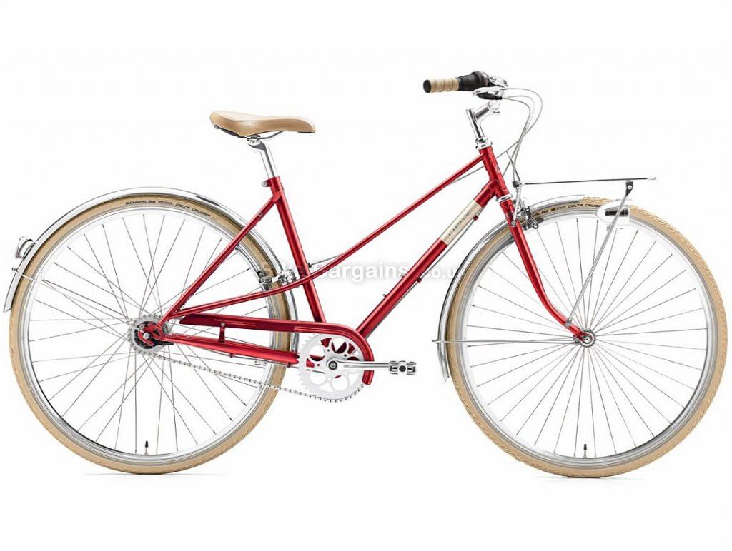 Creme CafeRacer Ladies Solo Nexus Steel City Bike 2018 44cm, Red, Turquoise, White, 700c, 7 speed, Steel
