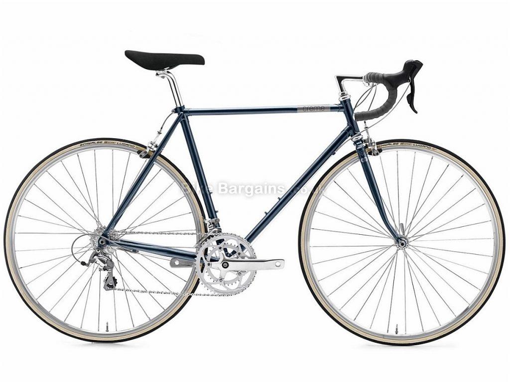 Creme Echo Doppio Tiagra Steel Road Bike 2018 57cm, Black, Steel, 9 speed, Calipers, 700c
