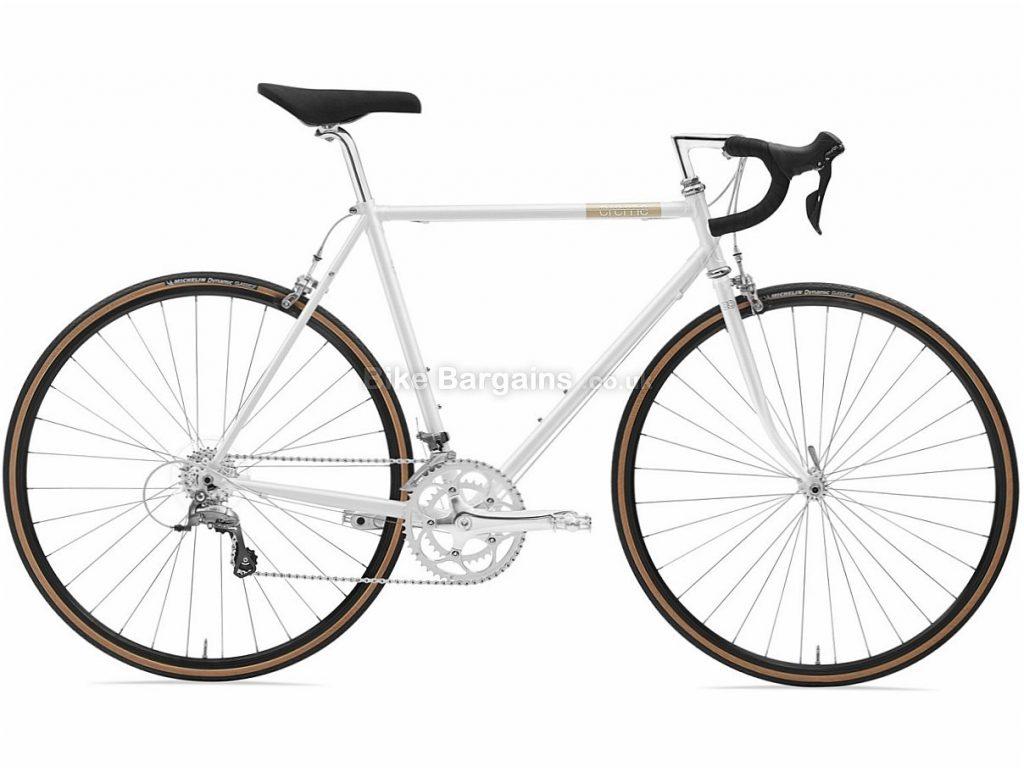 Creme Echo Solo Claris Steel Road Bike 2018 55cm, White, Steel, 8 speed, Calipers, 700c