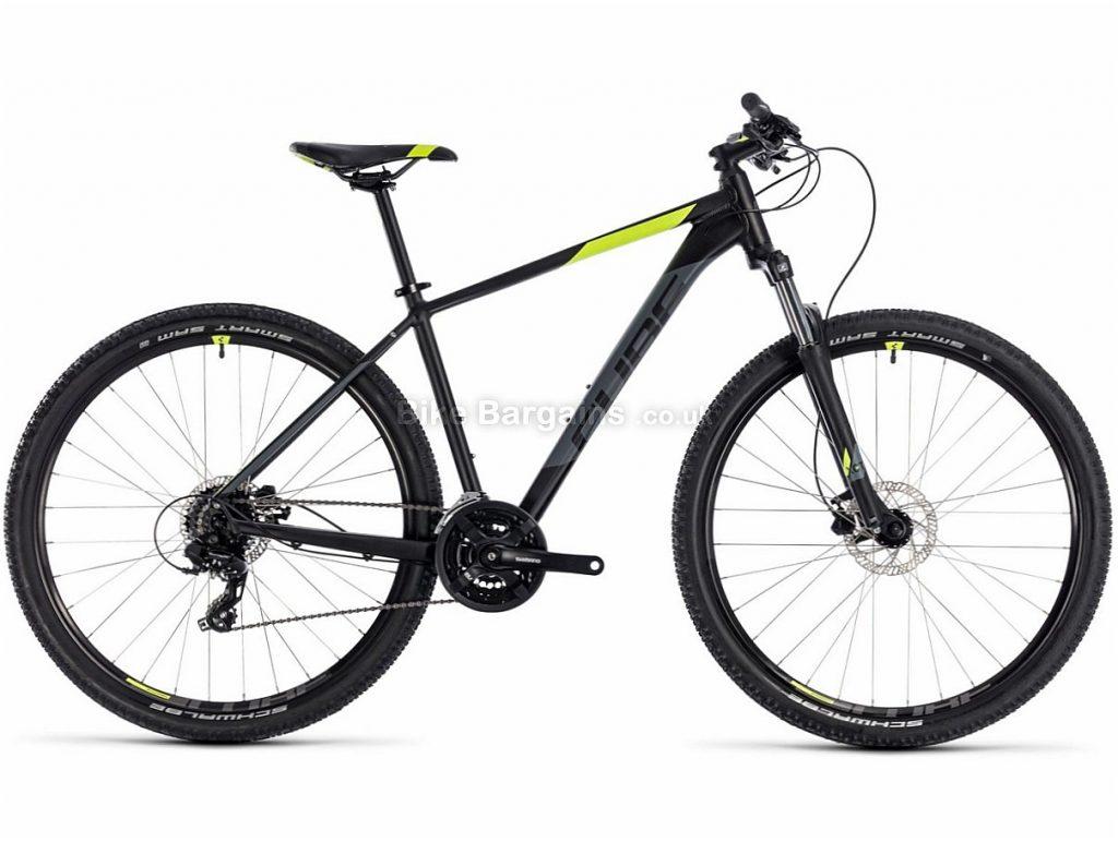 "Cube Aim Pro 29"" Alloy Hardtail Mountain Bike 2018 19"", Black, Yellow, Blue, Orange, Alloy, 29"", 24 Speed, 14.3kg"