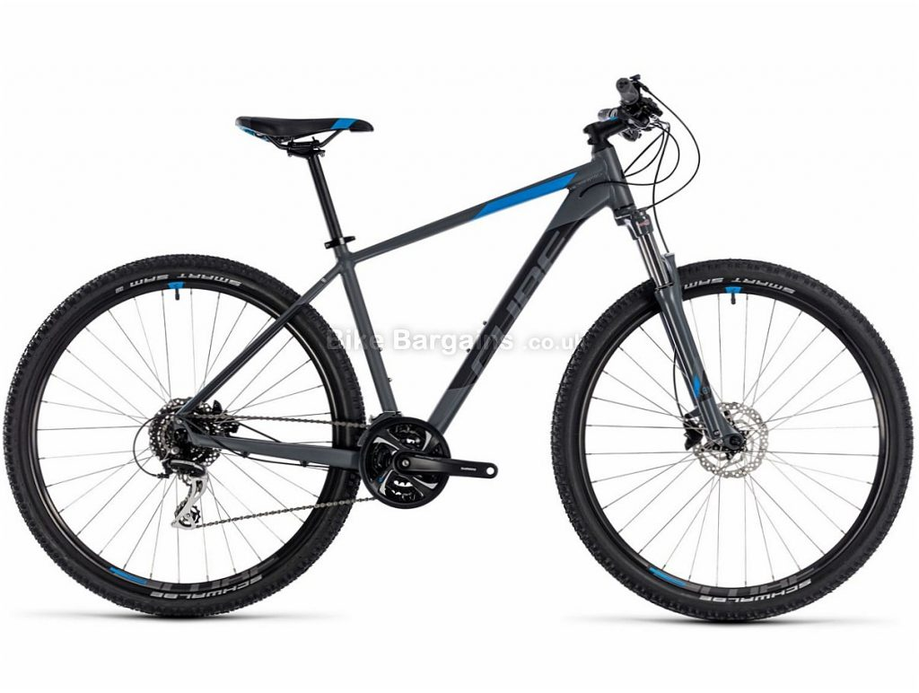 "Cube Aim Race 27.5"" Alloy Hardtail Mountain Bike 2018 16"",18"", Grey, Blue, White, Red, Alloy, 27.5"", 24 Speed, 14.4kg"