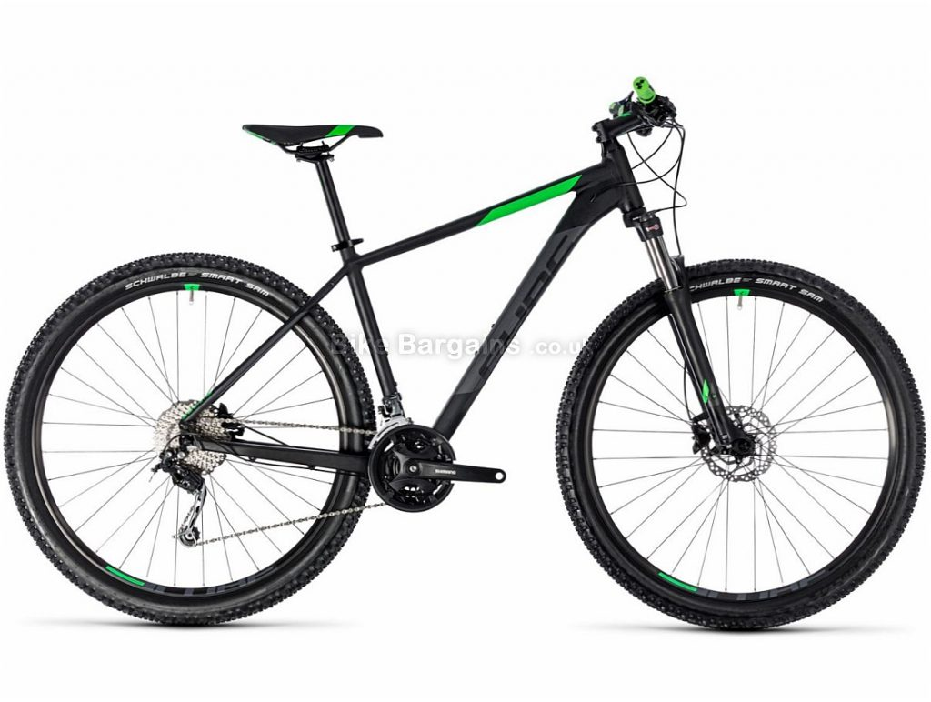 "Cube Aim SL 27.5"" Deore Alloy Hardtail Mountain Bike 2018 18"", Black, Green, Blue, Red, Alloy, 27.5"", 27 Speed, 14.4kg"