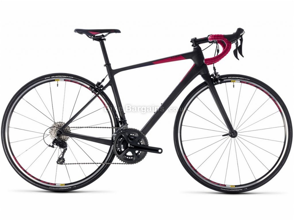 Cube Axial WS GTC Pro 105 Carbon Ladies Road Bike 2018 56cm, Black, Red, Carbon, Calipers, 11 speed, 700c, 8.3kg
