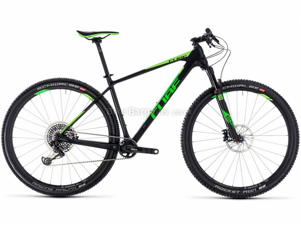 "Cube Reaction C:62 Eagle 29"" Carbon Hardtail Mountain Bike 2018 23"",Green, Carbon, 29"", 12 Speed, 9.7kg"