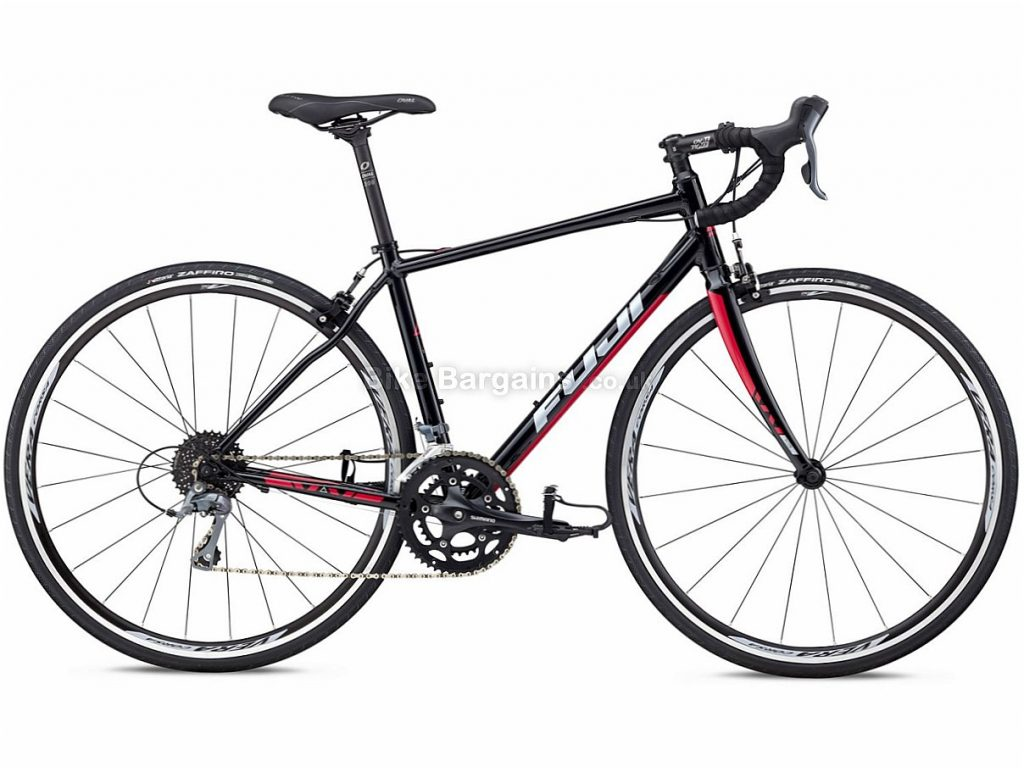Fuji Finest 2.3 Claris Alloy Road Bike 2018 47cm, Black, Pink, Alloy, Calipers, 8 speed, 700c, 10.17kg