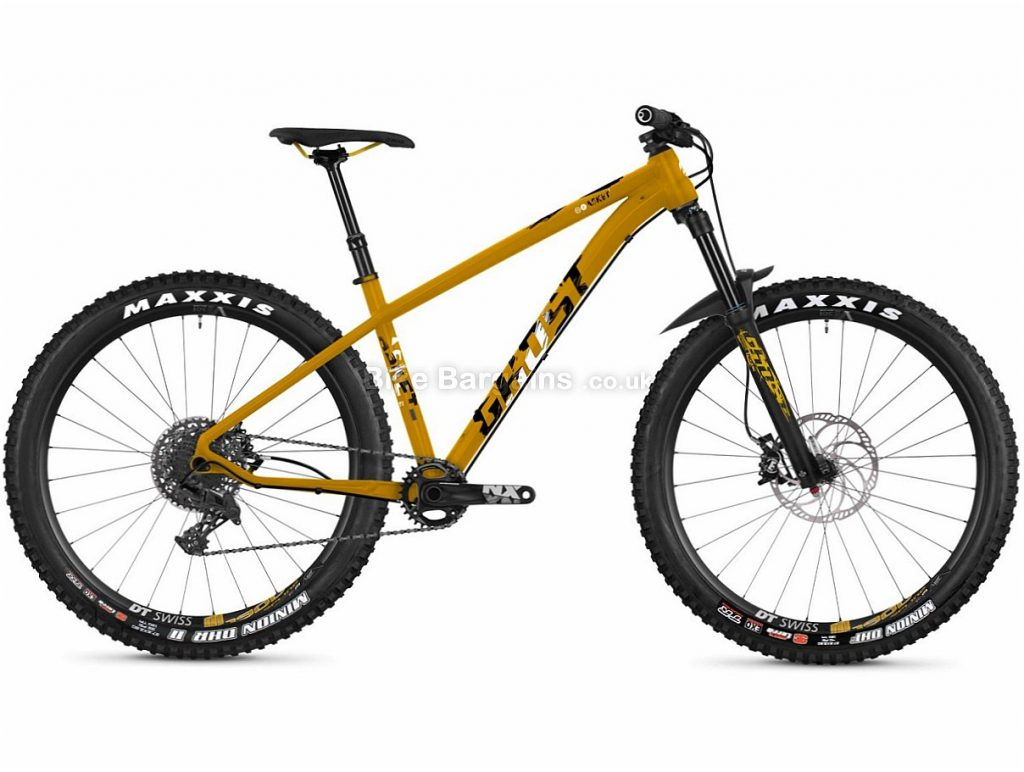 "Ghost Asket 4.7 27.5"" NX Alloy Hardtail Mountain Bike 2018 15"", Yellow, White, Black, Alloy, 27.5"", 11 Speed, 12.9kg"