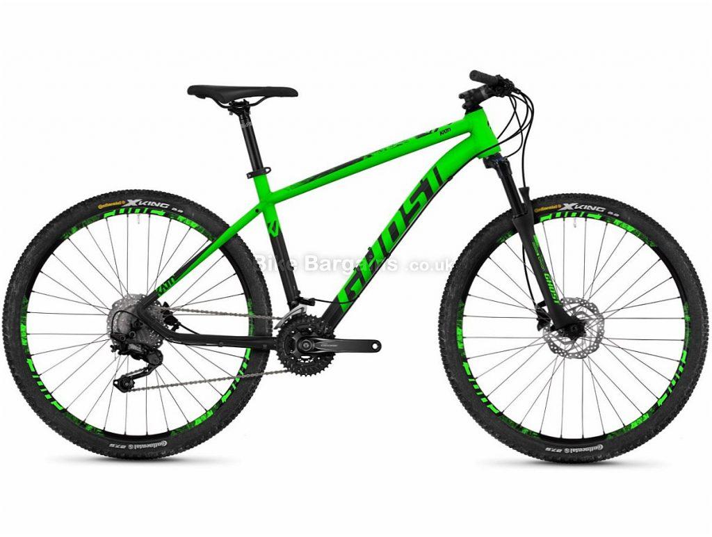 "Ghost Kato 6.7 27.5"" Deore Alloy Hardtail Mountain Bike 2018 20"", Green, Black, Alloy, 27.5"", 30 Speed"