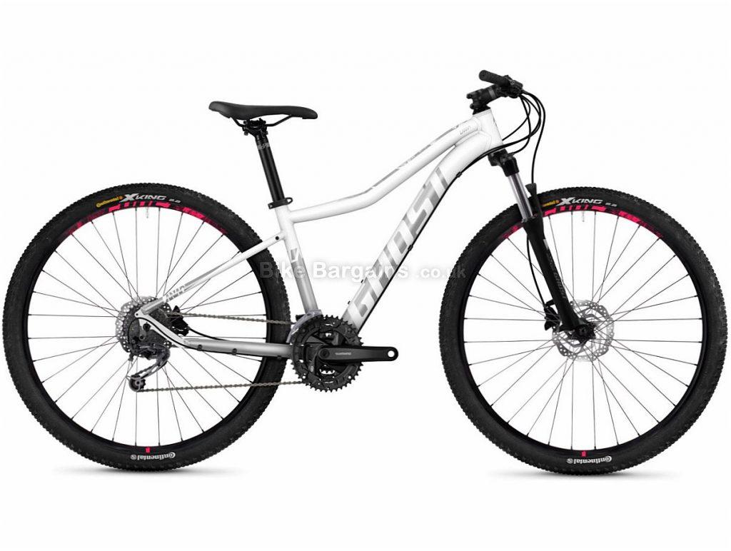 """Ghost Lanao 4.9 Ladies 29"""" Altus Alloy Hardtail Mountain Bike 2018 19"""", White, Silver, Pink, Alloy, 29"""", 27 Speed"""