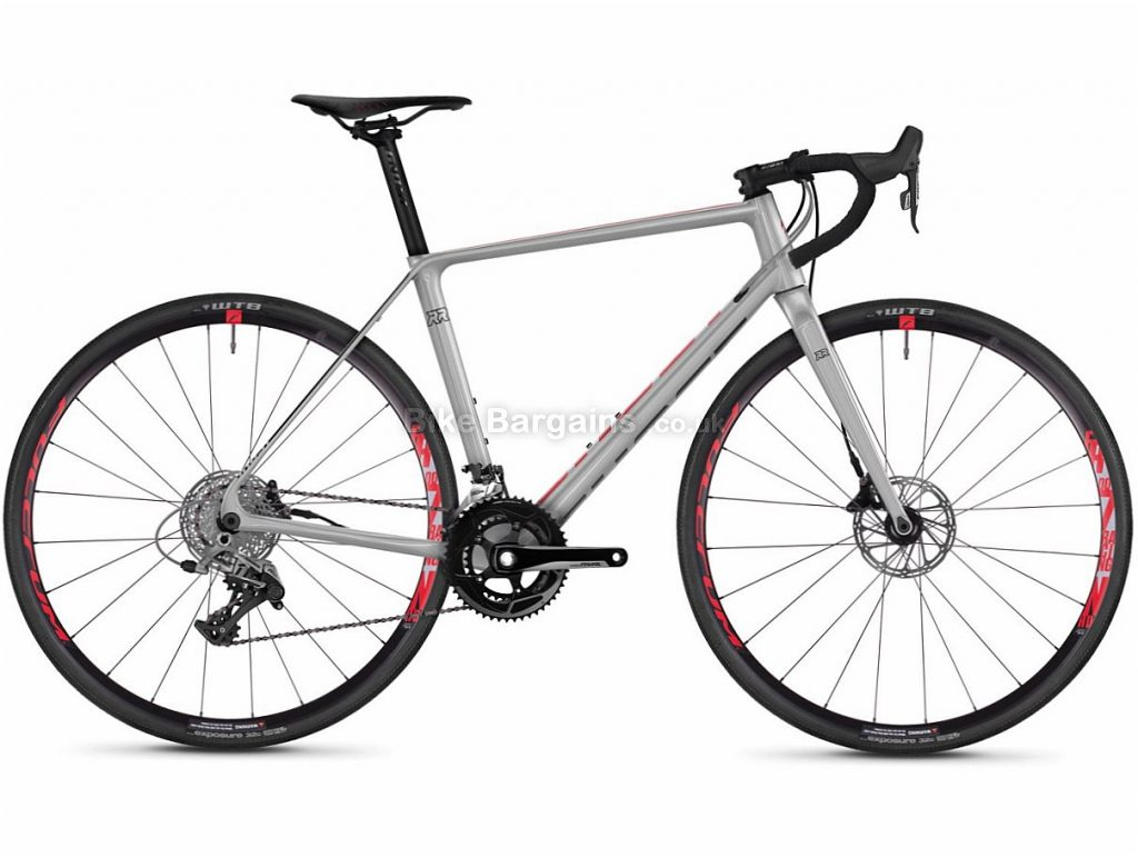 Ghost Road Rage 4.8 Disc Adventure Rival Carbon Road Bike 2018 50cm, Red, Silver, Carbon, Disc, 11 speed, 700c