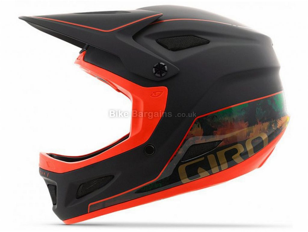 Giro Disciple MIPS Full Face MTB Helmet L, Black, Green, Orange