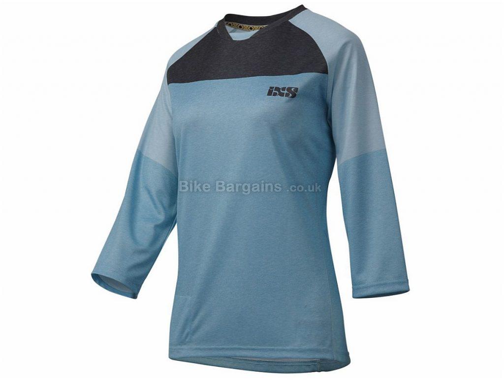 IXS Womens Vibe 6.1 3/4 Sleeve Jersey XXL,XXXL, Black, Grey, 3/4 Sleeve