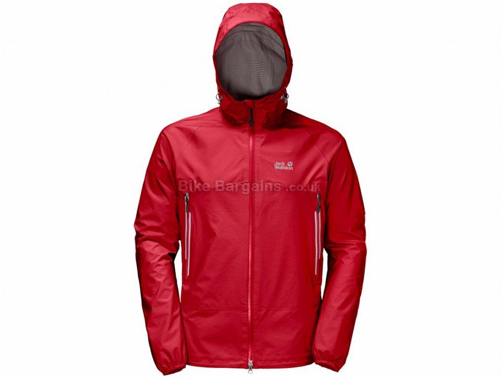 Jack Wolfskin Mountain Pass Jacket S,M,XL, Red