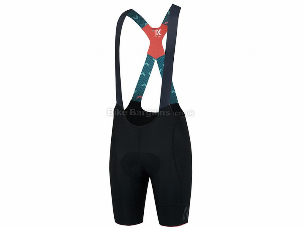 Kalf Flux Chevron Bib Shorts XS, Black, Green