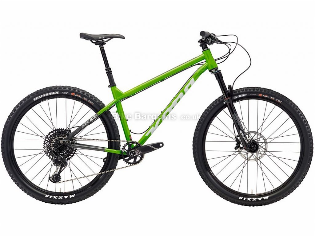 "Kona Explosif 27.5"" GX Eagle Steel Hardtail Mountain Bike 2018 S, Green, Steel, 27.5"", 12 Speed"
