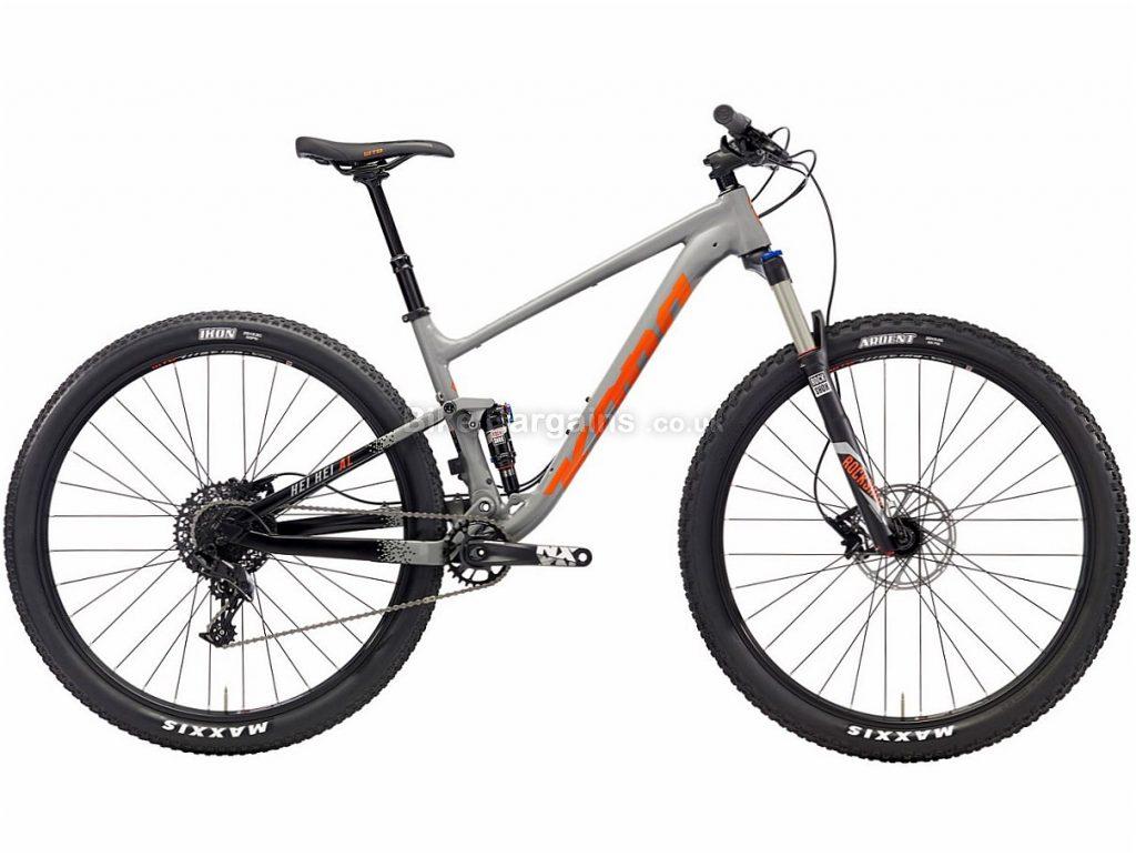 "Kona Hei Hei AL 29"" NX Alloy Full Suspension Mountain Bike 2018 M, Grey, Alloy, 29"", 11 Speed"