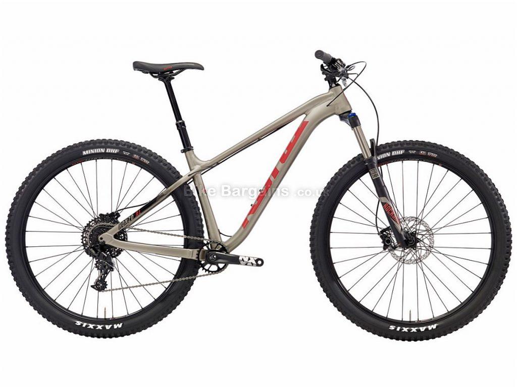 "Kona Honzo AL/DR 29"" NX Alloy Hardtail Mountain Bike 2018 S, Grey, Alloy, 29"", 11 Speed"